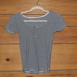 Trendy Striped American Eagle Shirt